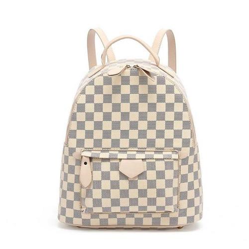 'Essentials' Designer Inspired Backpack - Beige Check