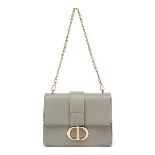 Naomi Designer Inspired Shoulder Bag - Grey