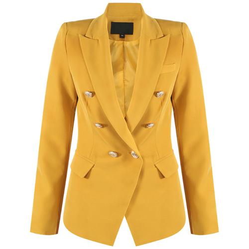Victoria Balmain Inspired Tailored Blazer - Mustard