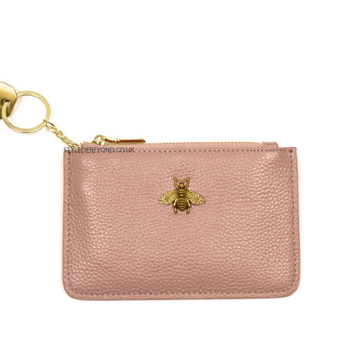 Carrie Bee Real Leather Gucci Inspired Key Pouch - Dusty Pink