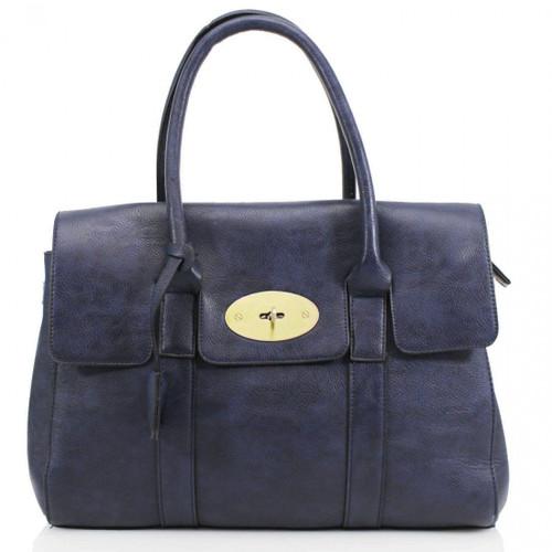 Kinley Designer Inspired Shoulder Bag - Navy