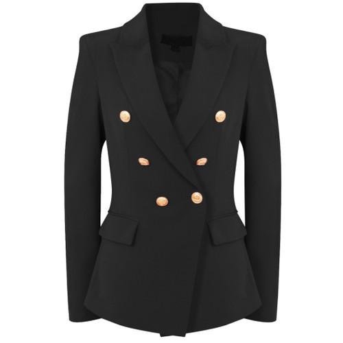 Victoria Balmain Inspired Tailored Blazer - Black