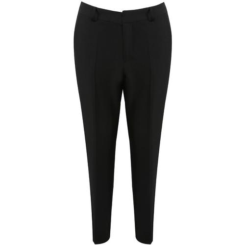 Anna Tailored Split Hem Designer Inspired Trousers - Black
