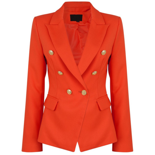 Victoria Balmain Inspired Tailored Blazer - Coral
