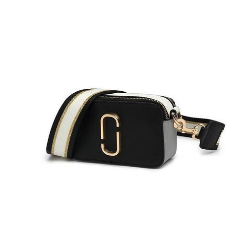 Marcia Designer Inspired Crossbody Bag - Multi Black