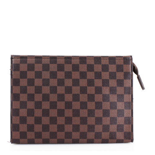 Rosie Designer Inspired Clutch Bag - Brown Check