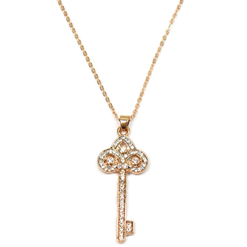 Deliah Tiffany's Inspired Key Necklace - Rose Gold