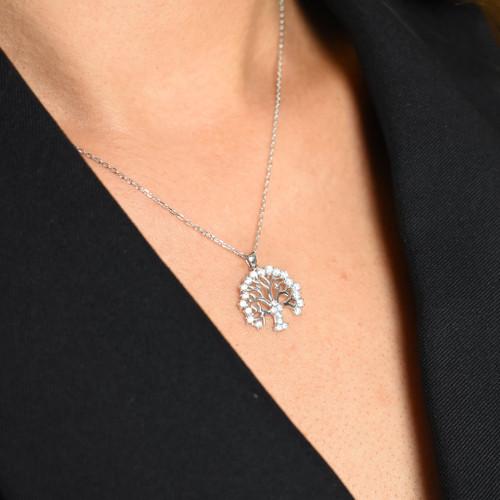 Kaya Mulberry Tree Designer Inspired Necklace - Sterling Silver