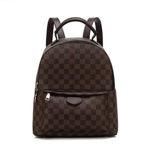 'Essentials' Designer Inspired Backpack - Brown Check