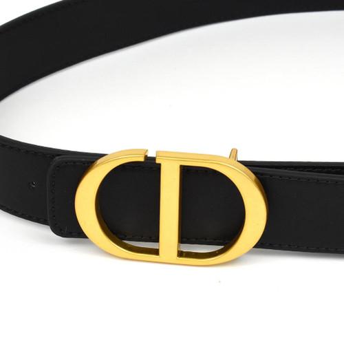 Blair Real Leather Designer Inspired Belt - Black