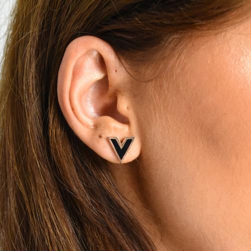 Vivi V Designer Inspired Stud Earrings - Rose Gold