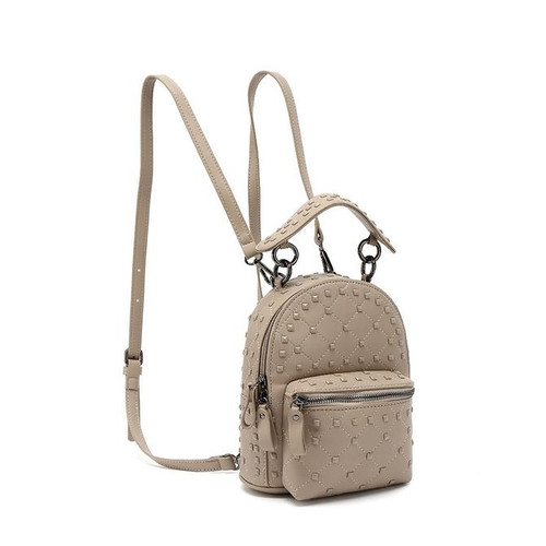 London Studded Valentino Inspired Backpack Mini - Nude