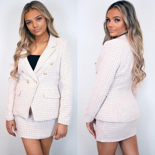 Chantelle Tweed Designer Inspired Coord - Pink