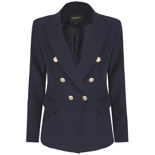 Alexandra Balmain Inspired Tailored Blazer - Navy