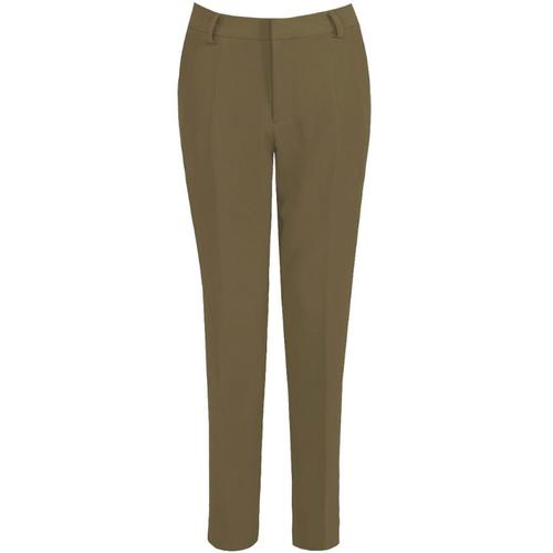 Shannon Designer Inspired Tailored Trousers - Khaki