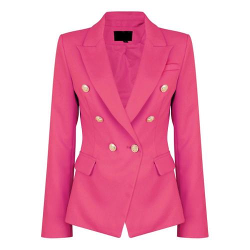 Victoria Balmain Inspired Tailored Blazer - Fuchsia