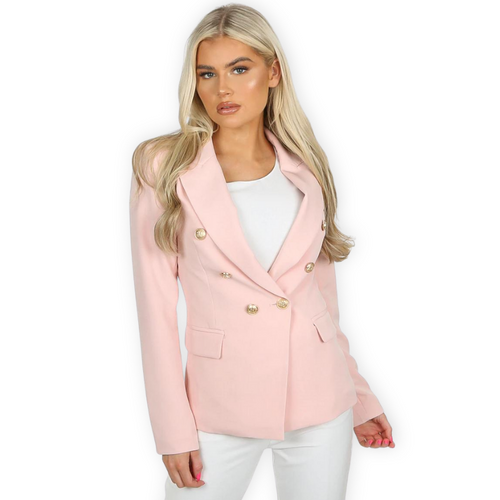 Victoria Balmain Inspired Tailored Blazer - Pink