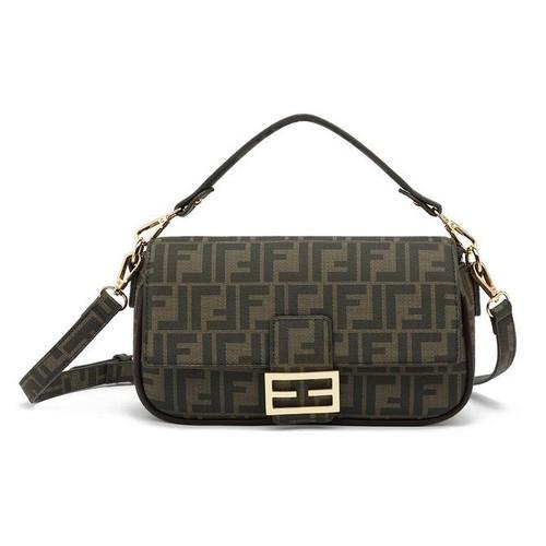 Frani Designer Inspired Baguette Bag - Brown