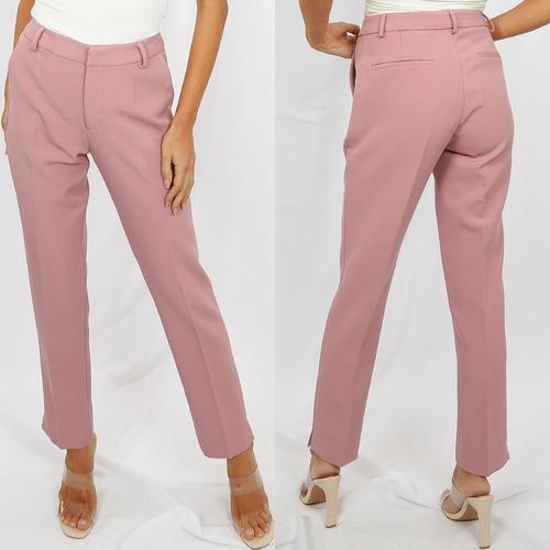 Shannon Designer Inspired Tailored Trousers - Rose
