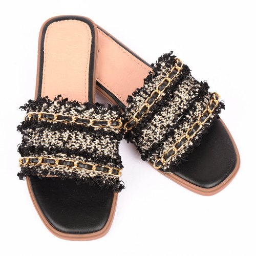 Corrina Tweed Designer Inspired Sandals - Black