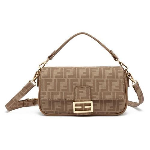 Frani Designer Inspired Baguette Bag - Beige