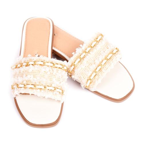 Corrina Tweed Designer Inspired Sandals - White
