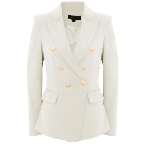 Victoria Balmain Inspired Tailored Blazer - Ivory White