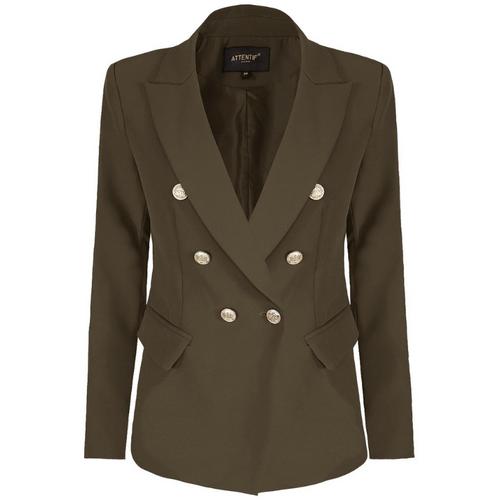 Alexandra Balmain Inspired Tailored Blazer - Khaki