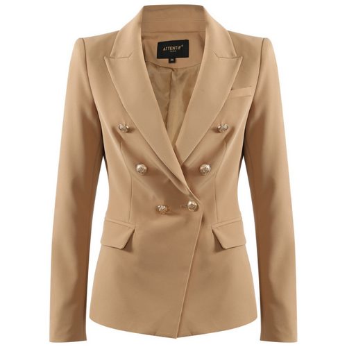 Victoria Balmain Inspired Tailored Blazer - Camel