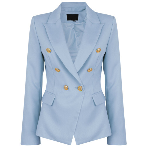 Victoria Balmain Inspired Tailored Blazer - Blue