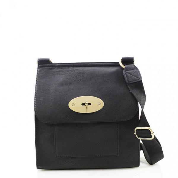 Toni Designer Inspired Satchel Bag - Black