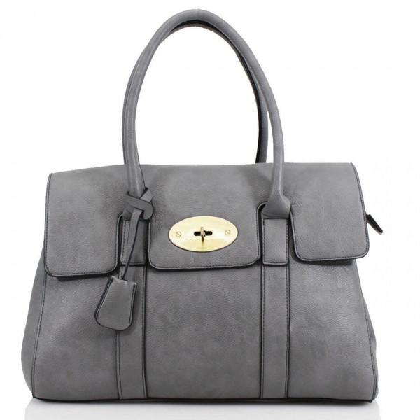 Kinley Designer Inspired Shoulder Bag - Grey