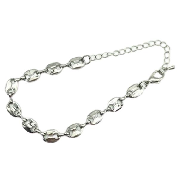 Karen Designer Inspired Marina Chain Bracelet- Silver