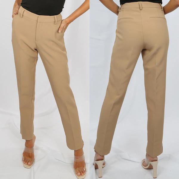 Shannon Designer Inspired Tailored Trousers - Camel