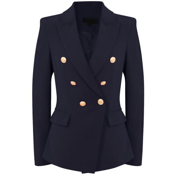 Victoria Balmain Inspired Tailored Blazer - Navy