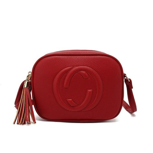Soho Gucci Inspired Disco Bag - Red