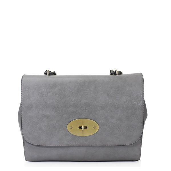 Athena Designer Inspired Crossbody Bag - Grey