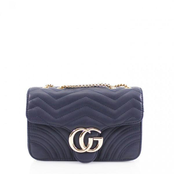 Talia Crossbody Gucci Inspired Marmont Bag - Navy