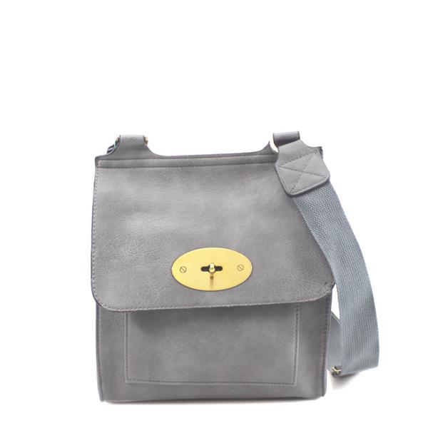 Toni Designer Inspired Satchel Bag - Grey