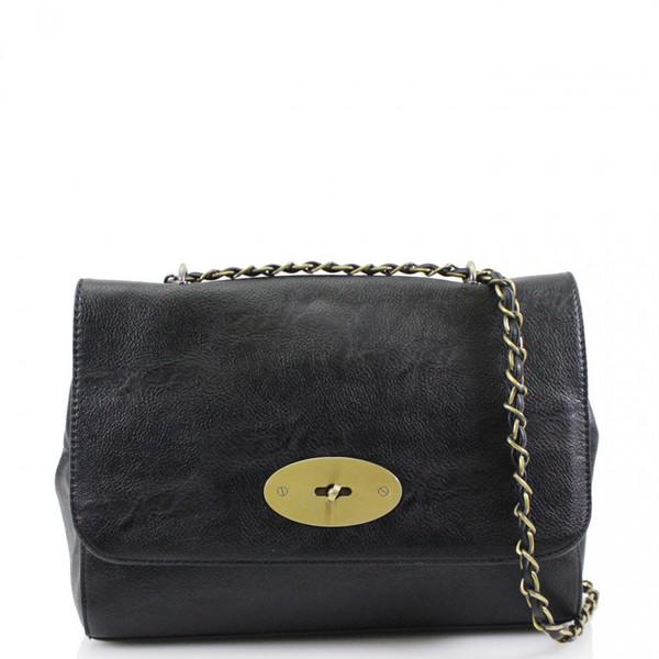 Athena Designer Inspired Crossbody Bag - Black