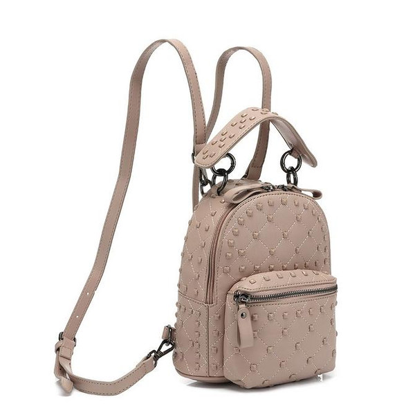 London Studded Valentino Inspired Backpack Mini - Pink
