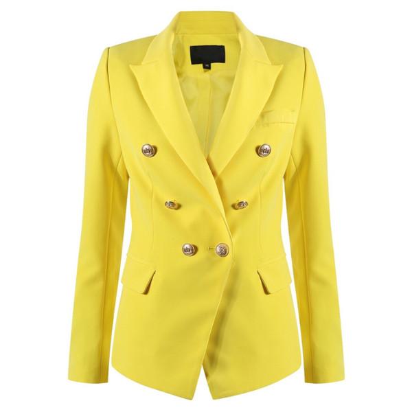 Victoria Balmain Inspired Tailored Blazer - Yellow