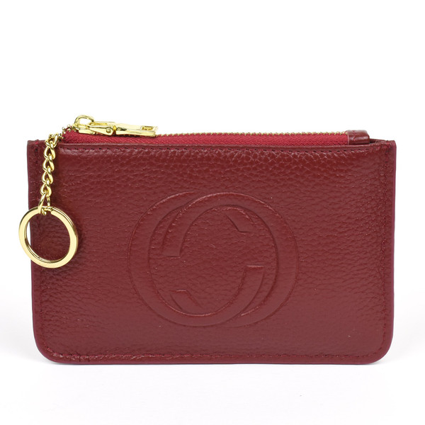 Thea Real Leather Gucci Inspired Key Pouch - Red