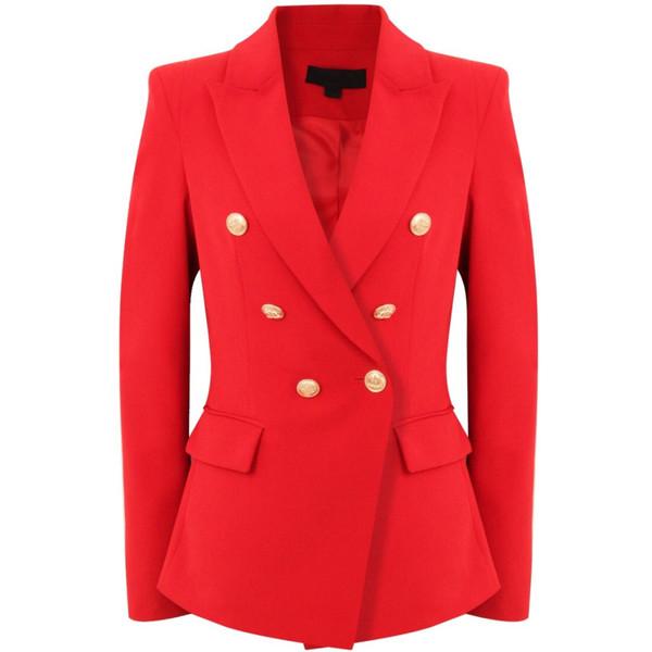 Victoria Balmain Inspired Tailored Blazer - Red