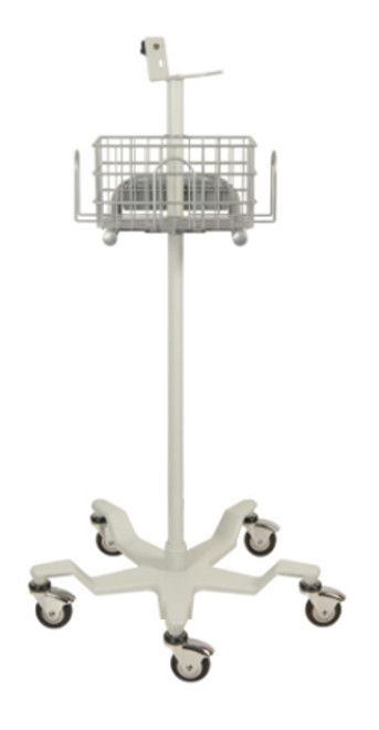 Criticare 1043 roll stand for use with Criticare 506 series of vital signs monitors.