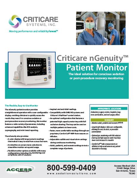 Criticare 8100 Series Monitor Brochure