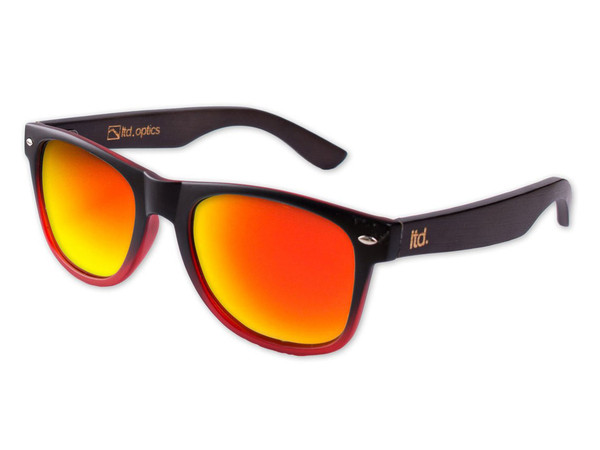 The Chameleon - Black/Red with Dark Bamboo and Orange REVO