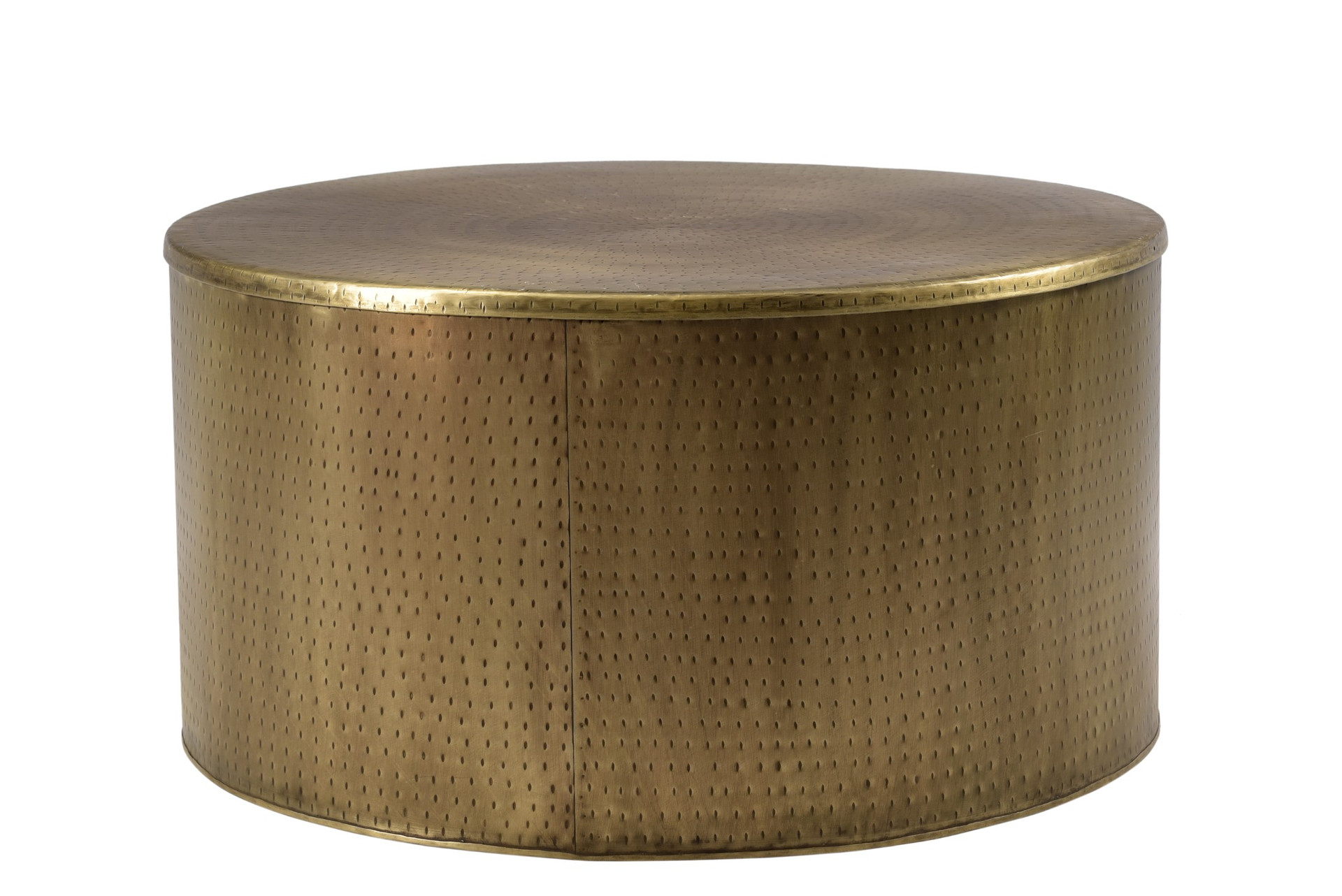 Rhu Home Drum Alevi Gold Drum Coffee Table