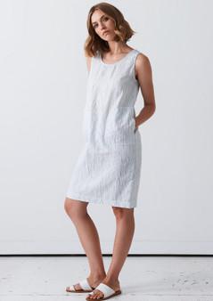 LAYERD  NAUHU DRESS - VERTICAL STRIPE