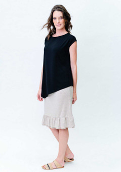 lou lou bamboo toni top in black
